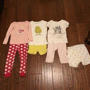 Lot of girls Baby Gap pajamas